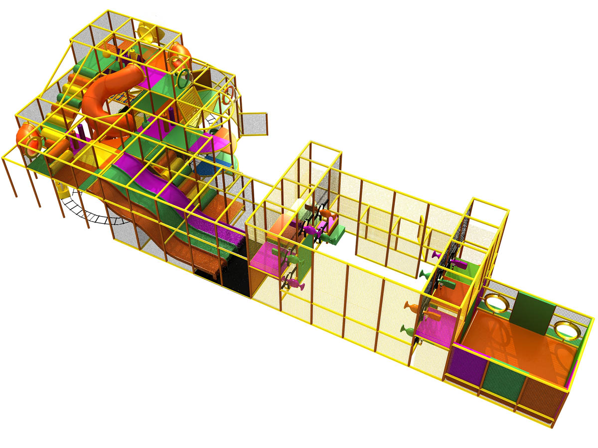 Safe indoor playground designs cost equipment kidsteam for Indoor playground design ideas