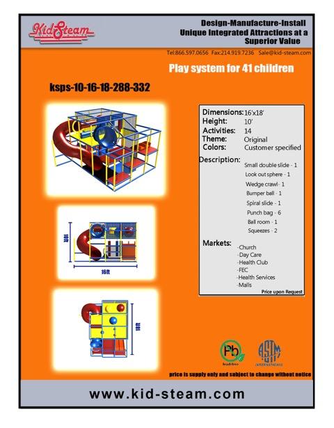 Indoor Playground Design: Budget: $25,000-$42,000 Ages: 3-12