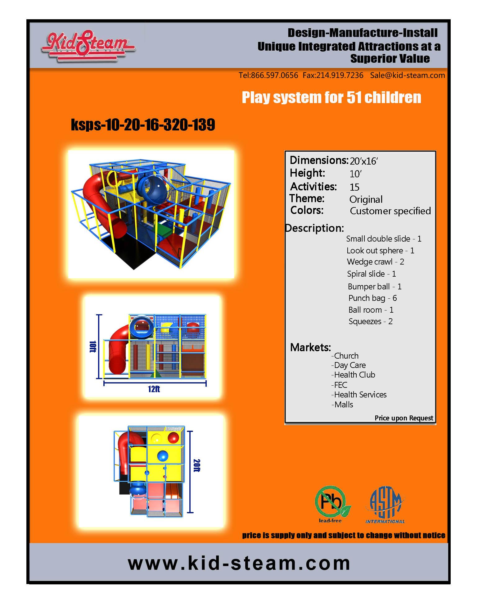 Indoor Playground Design: Budget: $20,000-$32,000 Ages: 3-12