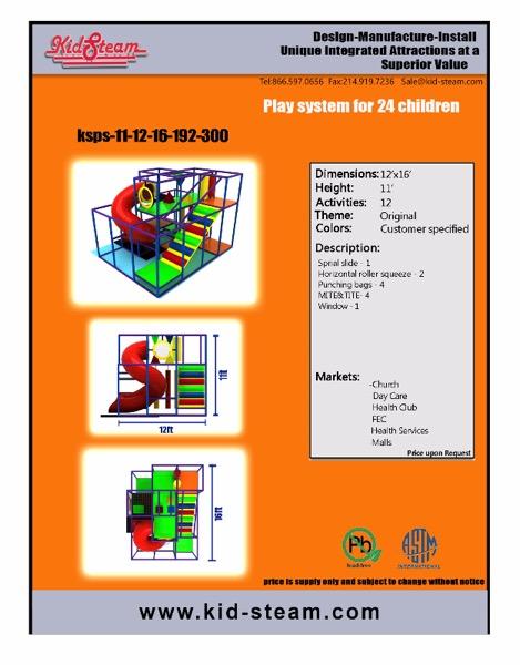 Indoor Playground Design: Budget: $22,000-$42,000 Ages: 3-12