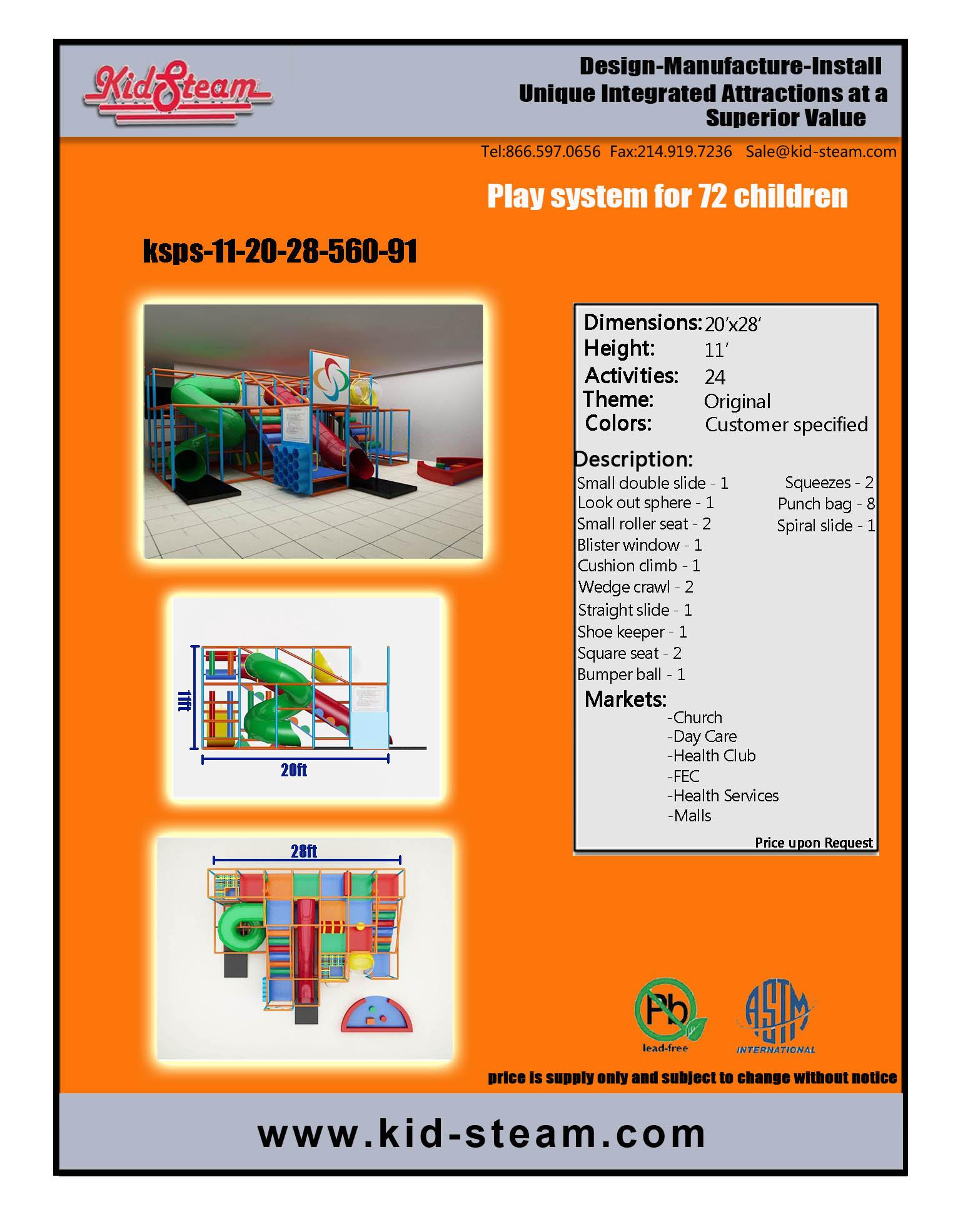 Indoor Playground Design: Budget: $23,000-$47,000 Ages: 3-12