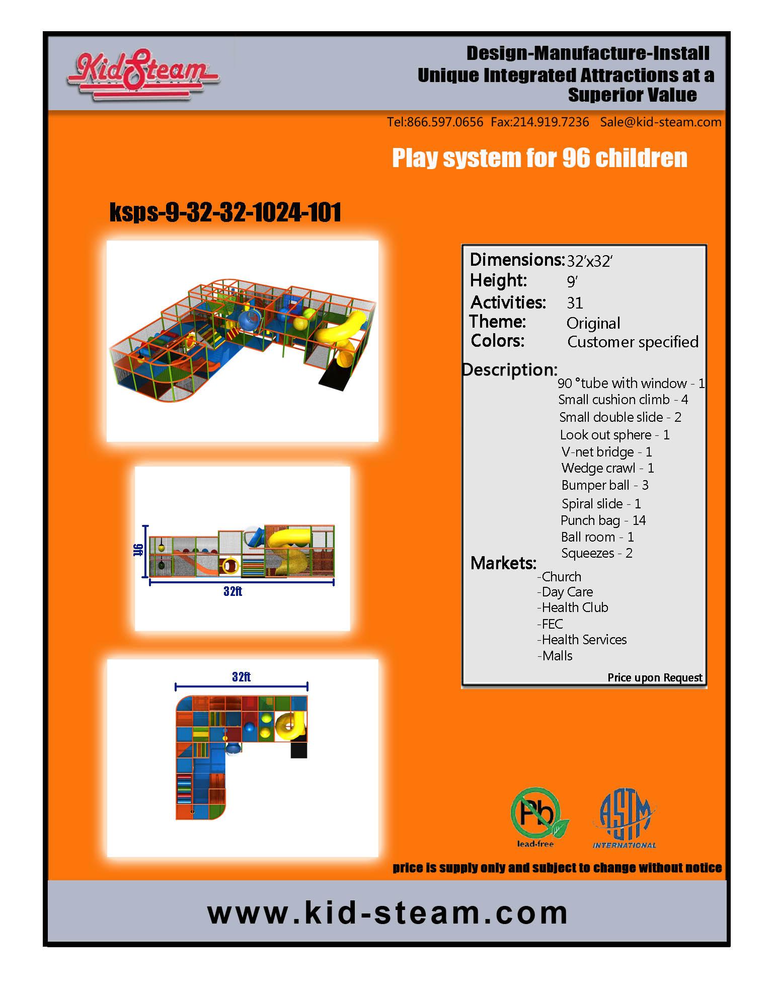 Indoor Playground Design: Budget: $29,000-$58,000 Ages: 3-12