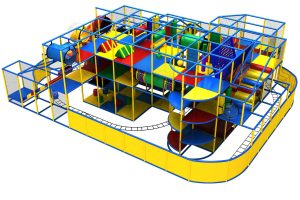 massive indoor playground system amustement park