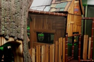 3D Tree Playground Entrance