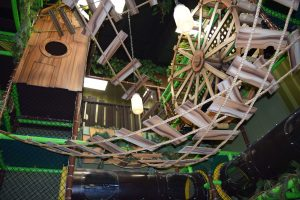 Graphic Themed Indoor Playground Jungle with Ladders