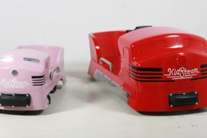 Adult size hand car vs. child size handcar