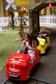 mall kid powered train