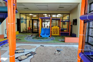Racecar Themed Flooring with Toddler Playground alternate view
